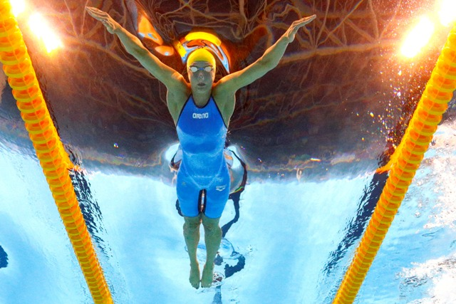 Sjostrom breaks own world record to grab 100m butterfly gold