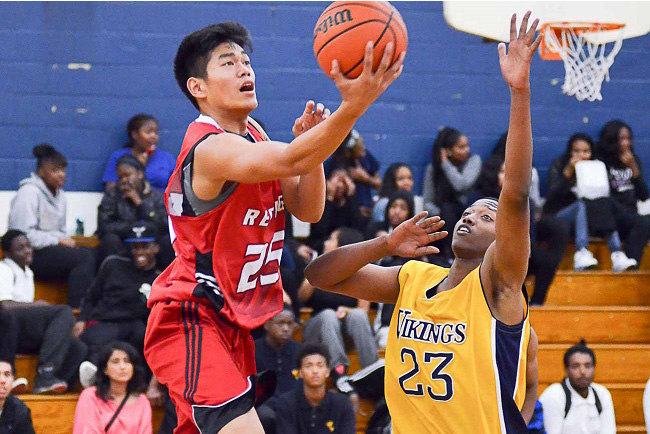 File photo shows Christian David donning the Bishop Reding uniform. David rose to become one of the top prospects in Canada. He will play for the Butler University Bulldogs. |RM Motion/North Pole Hoops