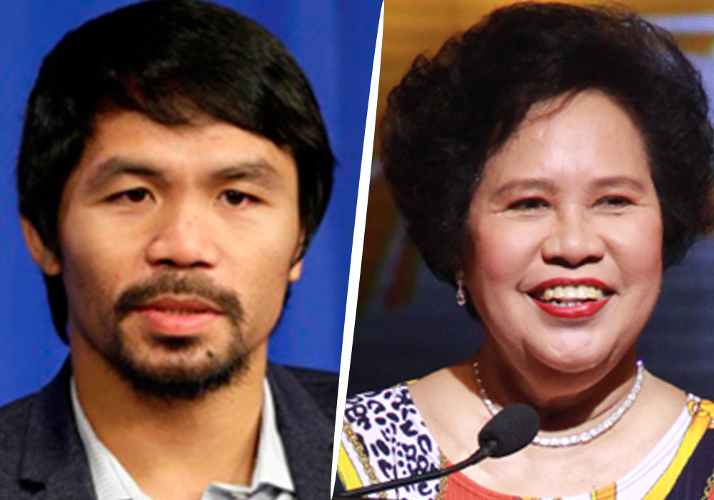 Filipino sports personalities, including boxing champion and fellow senator Manny Pacquiao, took to Twitter to honor Miriam Defensor Santiago. Santiago succumbed to lung cancer Thursday.