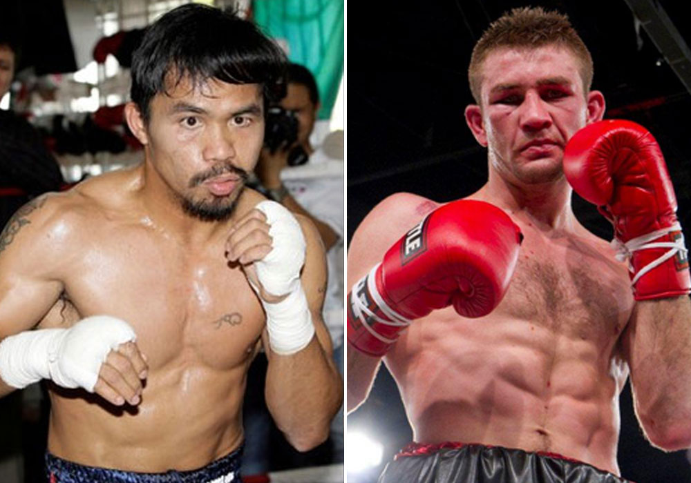 Manny Pacquiao and South African boxer Chris Van Heerden