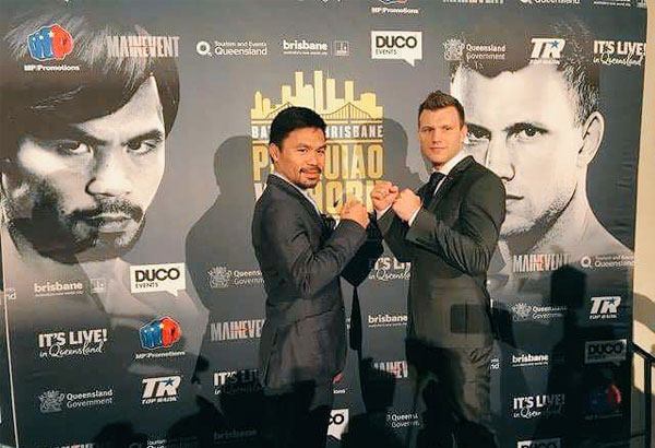 """If not for Manny Pacquiao, the name """"Jeff Horn"""" will probably remain unheard of outside this country. Photo from Pacquiao's Twitter (@mannypacquiao)"""