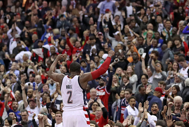 Home News NBA Playoffs Highlights: John Wall's Last Second Three-Pointer Gives Wizards Game 6