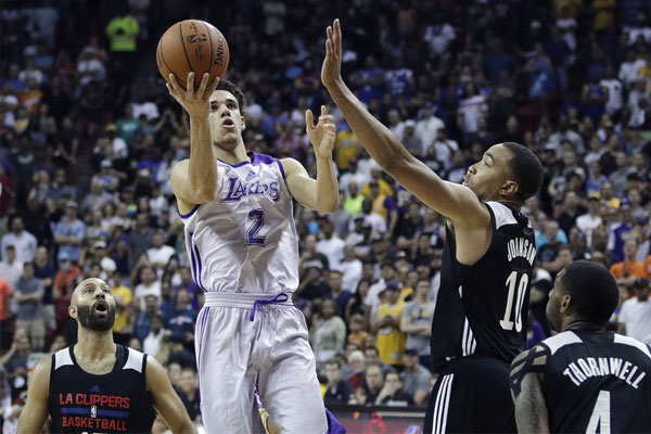 Lakers use Lonzo's 36 to come back and knock off Sixers late