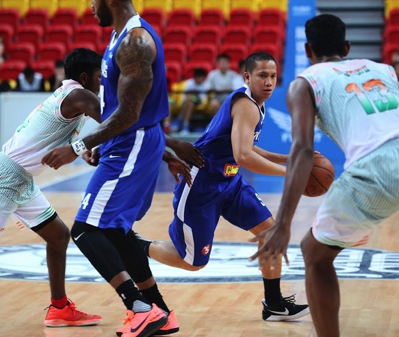 Gilas Pilipinas' Almond Vosotros during the Philippines' game against India in the 39th William Jones Cup | Contributed Photo