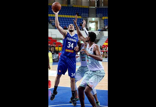 Gilas Pilipinas' new big man Christian Standhardinger during the recently concluded Jones Cup in Taiwan   Contributed Photo