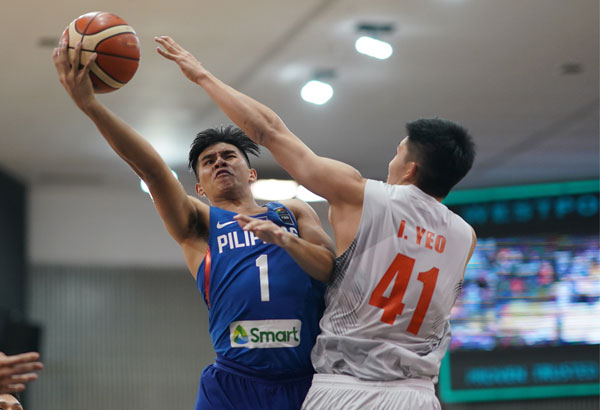 Four-time Southeast Asian Games gold medalist and blue chipper Kiefer Ravena during one of his national team stints. He and Christian Standhardinger lead this year's crop of PBA hopefuls who are going to participate in the PBA Draft Combine | File Photo