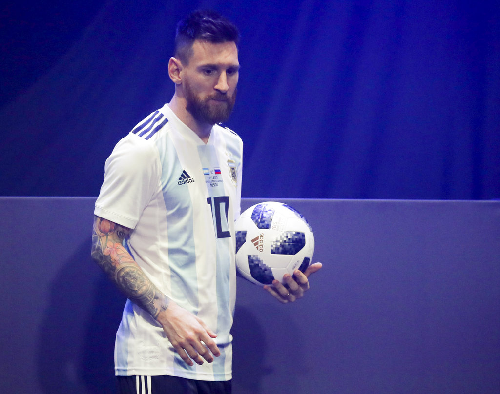 on sale 4275f 317fa Messi presents World Cup 2018 ball in Moscow | Philstar.com