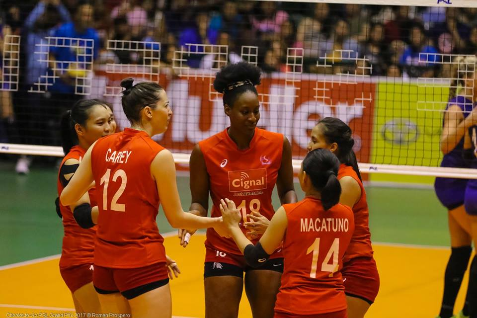 Cignal HD will try to blemish F2's immaculate record in the 2017 Chooks to Go - Philippine Superliga Grand Prix. | Philippine Superliga/ Roman Prospero