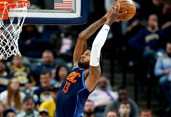 National Basketball Association wrap: Thunder lift Paul George in return to Indianapolis