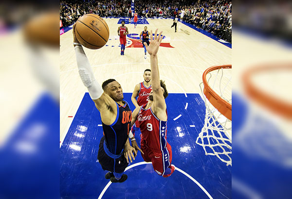 National Basketball Association wrap: Russell Westbrook's triple-double powers Thunder past 76ers