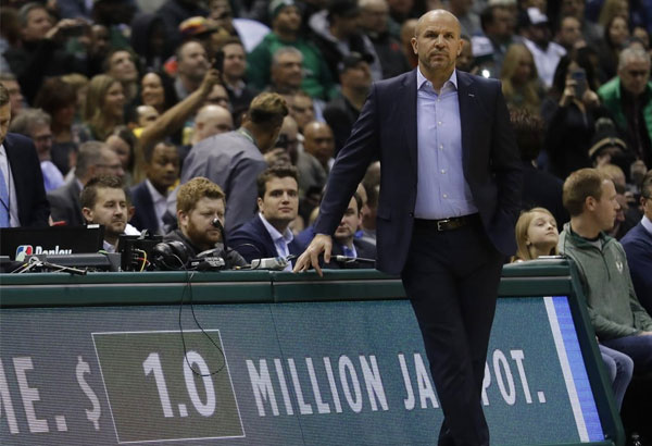 Milwaukee Bucks head coach Jason Kidd watches during the first half of an NBA basketball game against the Miami Heat Wednesday, Jan. 17, 2018, in Milwaukee. | AP Photo/Morry Gash