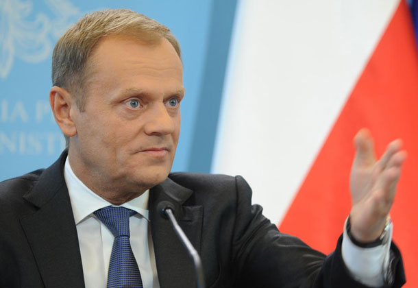 """Further enhancing our relations based on common interests and shared values of democracy, human rights, and rule of law is a priority for the EU,"" European Council President Donald Tusk said at the 40th ASEAN-EU Commemorative Summit. AP Photo/Alik Keplicz"