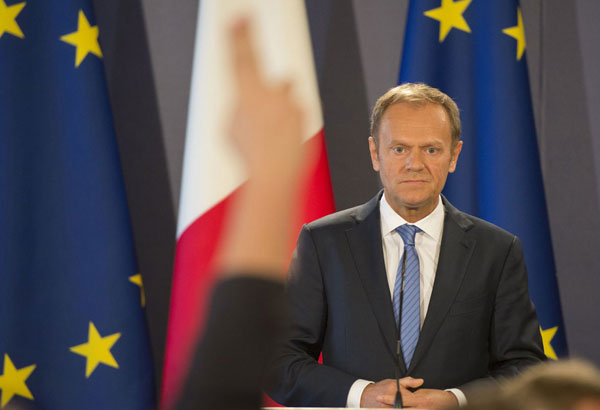 European Council President Donald Tusk will travel to the Philippines in November to attend the Association of Southeast Asian Nation Summit and related meetings at a time of tense relationship with Manila. AP/Rene Rossignaud, File