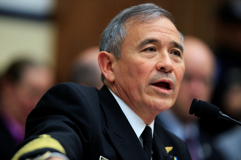 In this photo taken April 26, 2017, U.S. Pacific Command Commander Adm. Harry Harris Jr. testifies on Capitol in Washington before a House Armed Services Committee hearing on North Korea. Harris said Thursday, April 27, 2017, that the crisis with North Korea is at the worst point he's ever seen, but he declined to compare the situation to the Cuban missile crisis decades ago. AP/Manuel Balce Ceneta