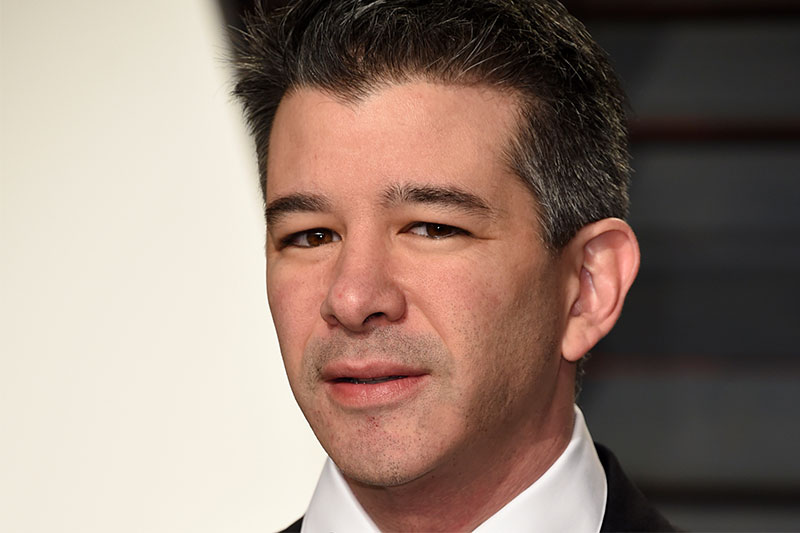ILE - In this Sunday, Feb. 26, 2017, file photo, Uber CEO Travis Kalanick arrives at the Vanity Fair Oscar Party in Beverly Hills, Calif. Uber must get rid of leaders who tolerate bad behavior and hire people who don't, including up to the chief executive, experts say, as the ride-hailing company gets ready to announce significant changes to its culture and management. Uber's board has adopted the recommendations of former Attorney General Eric Holder, who investigated its toxic culture of harassment and bullying. Those will be revealed to employees and made public on Tuesday, June 13, 2017. Photo by Evan Agostini/Invision/AP, File