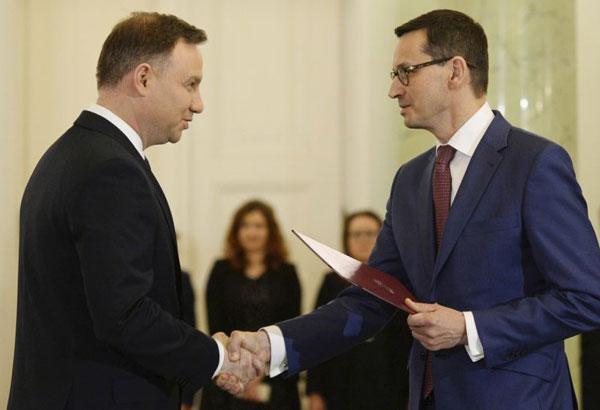 Morawiecki sworn in as Polish PM