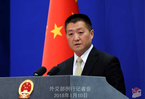 """""""We hope that certain people in Australia should engage in self-reflection instead of pointing fingers at and making irresponsible remarks on other countries,"""" Chinese Foreign Ministry spokesperson Lu Kang said.FMPRC/Released"""