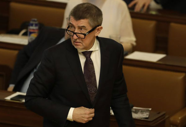 Czech Republic's Prime Minister Andrej Babis attends a parliament session in Prague, Czech Republic, Friday, Jan. 19, 2018. Lawmakers in the lower house of Parliament have agreed to lift the immunity from prosecution for billionaire Andrej Babis over an alleged fraud involving EU subsidies. (AP Photo/Petr David Josek)