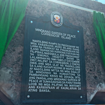 Marker on Corregidor Island