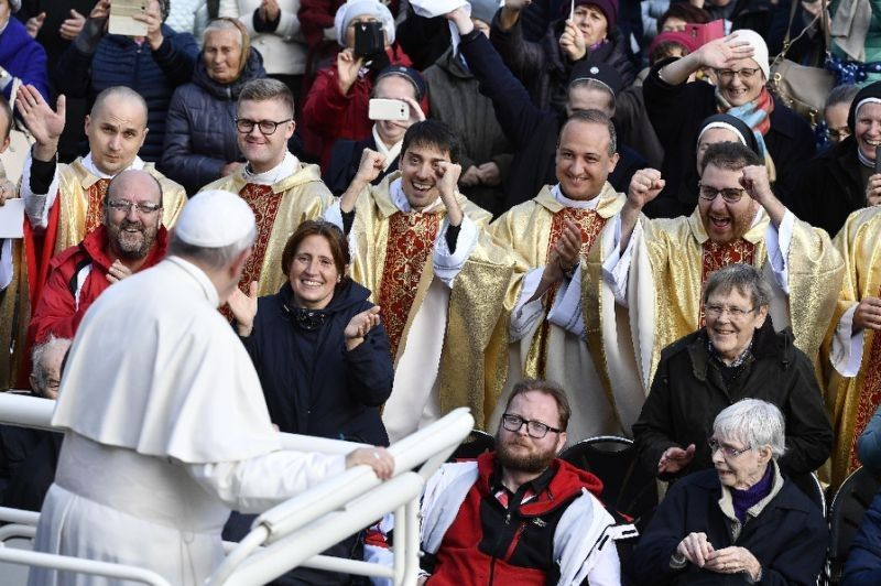Pope says youth 'outraged' by clergy sex scandals