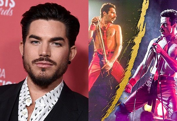 "From left: ""American Idol"" runner-up Adam Lambert; Freddie Mercury as portrayed by Rami Malek in ""Bohemian Rhapsody"""