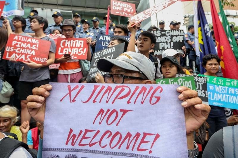 Image result for philippines, november 2018, anti-china protests, photos
