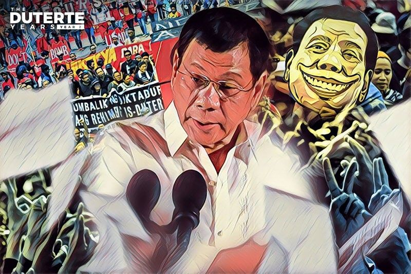 Duterte Year 2: 'Without rights, a return to rule by tyrants'