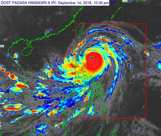 State weather agency PAGASA said late Friday evening that the eye of the 900 km-wide Ompong is expected to make landfall in Cagayan between 1 a.m. to 3 a.m. after several days at full strength while slowly moving over closer to the Philippines.