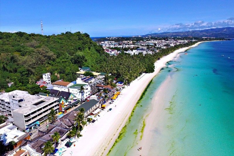 File Photo Shows Elishments Along Boracay S White Beach During The Period Of Island Clean Up And Rehabilitation Department Tourism Has