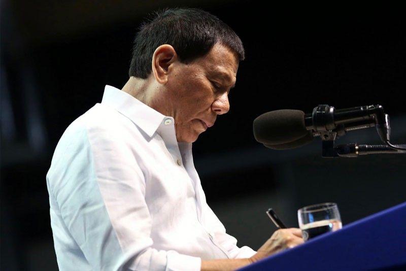 Duterte signs executive order vs illegal �endo�
