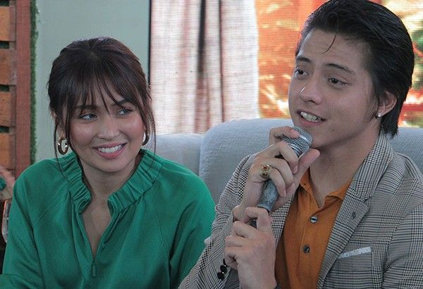 """KathNiel at """"The Hows of Us"""" press conference"""