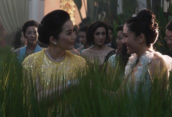 "Kris Aquino as Princess Intan meets Rachel Chu (Constance Wu) at the CHIJMES, location of the famed wedding scene in ""Crazy Rich Asians"""