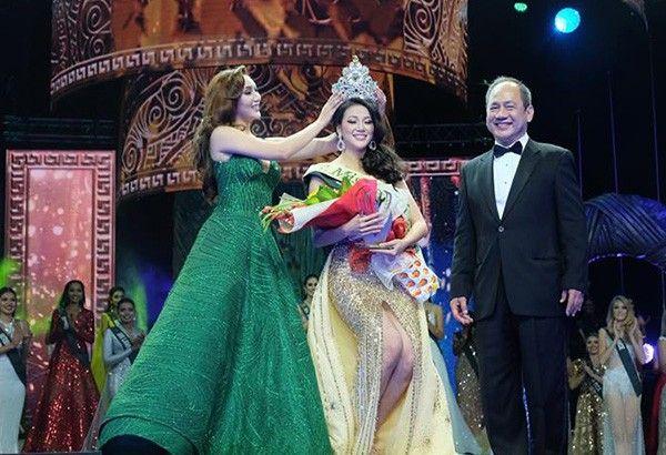 Karen Ibasco hands over Vietnam's first Miss Earth crown