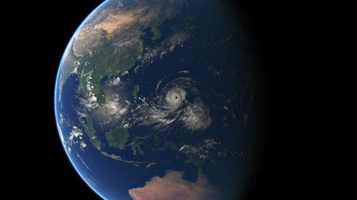 Stunning but scary: Typhoon Ompong as seen from space