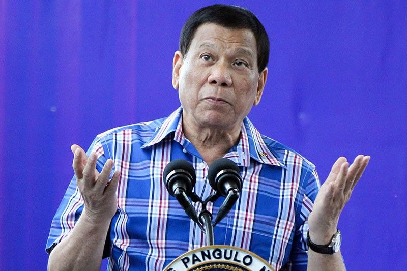 Duterte says to run for vice president to gain immunity from suit