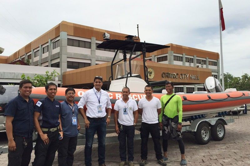 Rescue boat Lucy arrives in Ormoc