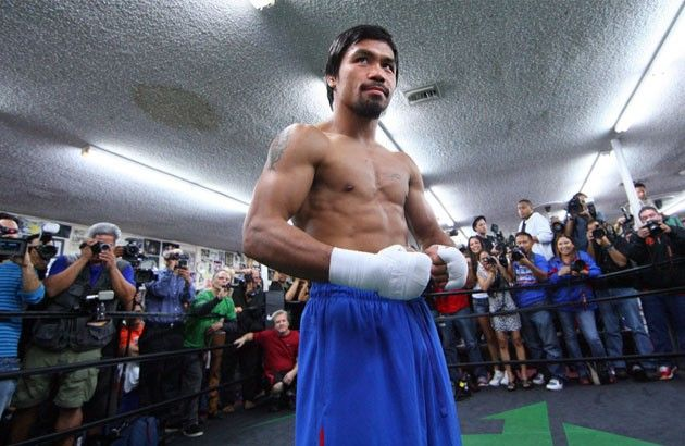 Pacquiao back in the gym