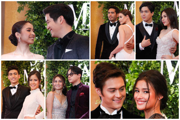 Celebrity couples fired up the Star Magic Ball red carpet. Photos by Efigenio Toledo IV