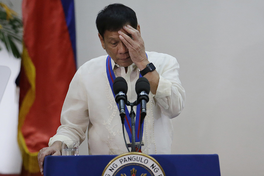 Duterte admits suffering from back pain, daily migraines