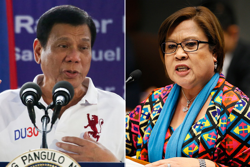 Duterte jokes about showing De Lima's alleged sex video to Pope