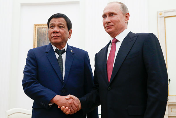 Duterte asks Putin for a loan to purchase firearms