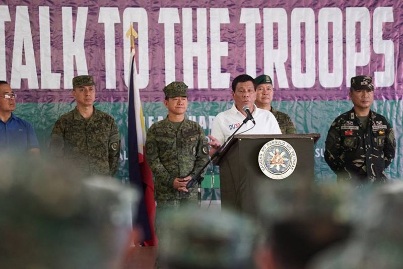 Duterte ready to formally end talks with Reds