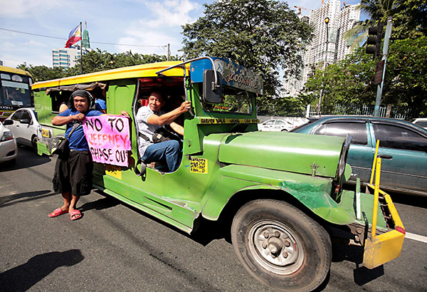 Jeepney phaseout begins January 2018