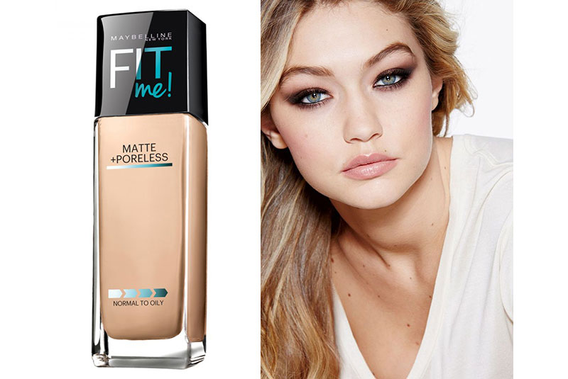 """bed3eb29f1a Matte and poreless: """"It's better for when pictures are taken,"""" supermodel  Gigi Hadid says about Fit Me! liquid foundation, available at Maybelline  counters ..."""