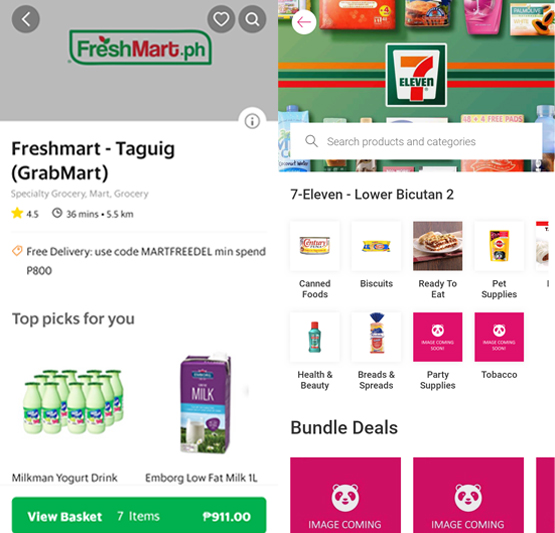 GrabMart vs foodpanda: Which grocery delivery service can save you more time