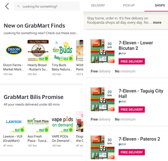 GrabMart vs foodpanda: Which grocery delivery service can save you more time?