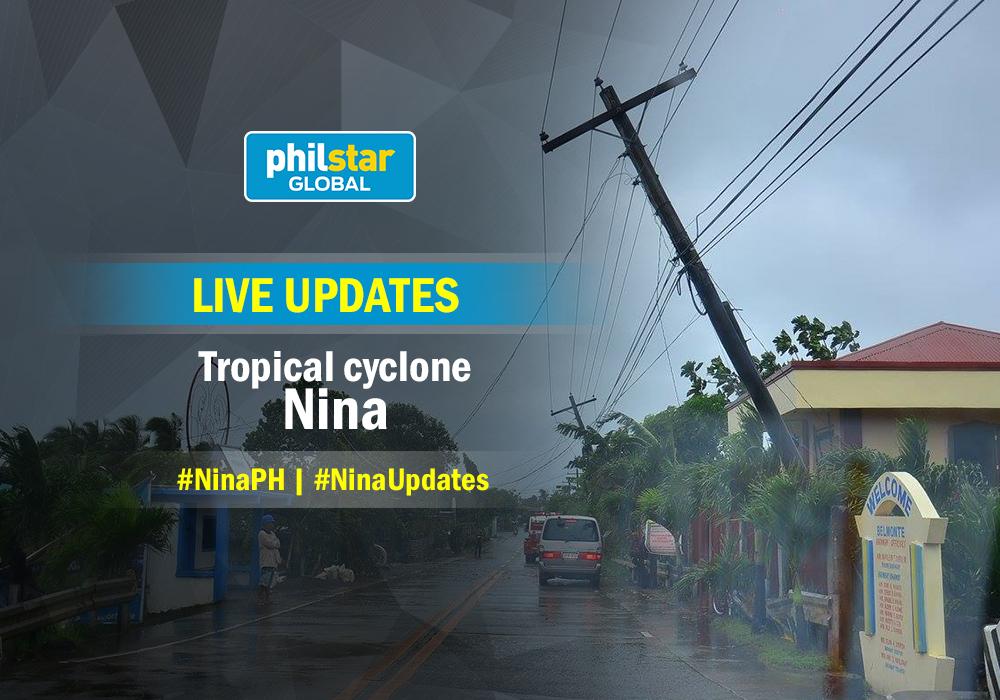 LIVE updates: Tropical cyclone 'Nina'
