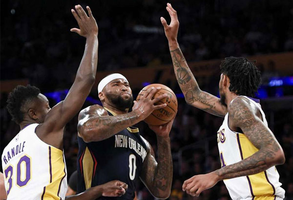 Pelicans hold off huge Lakers rally for first win