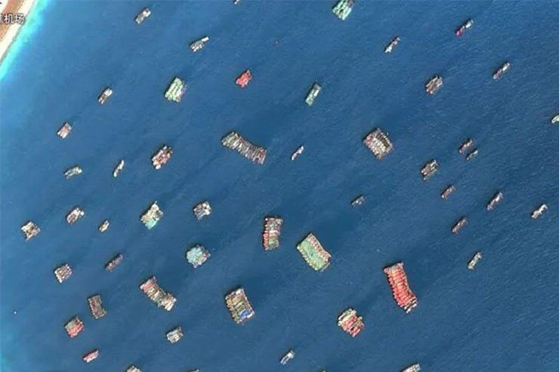 Satellite imagery shows Chinese fishing vessels in Philippine EEZ � study