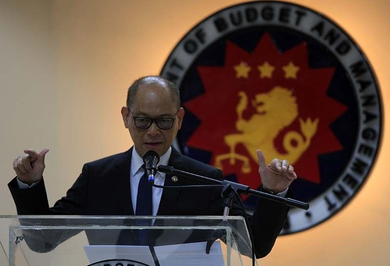 File photo shows Budget chief Benjamin Diokno. In a press briefing, he said a reenacted budget will be detrimental to the economic growth of the country.